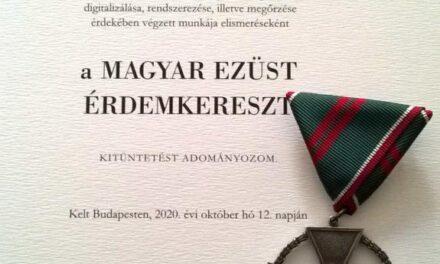 Kitüntették Monostori Péter kerületi történészt, közírót